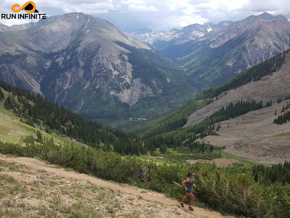 Leadville 100 mile running hope pass