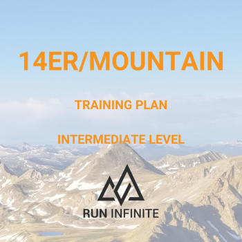 Trail running training plan 14er mountain