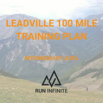 Trail running training plan Leadville 100 mile